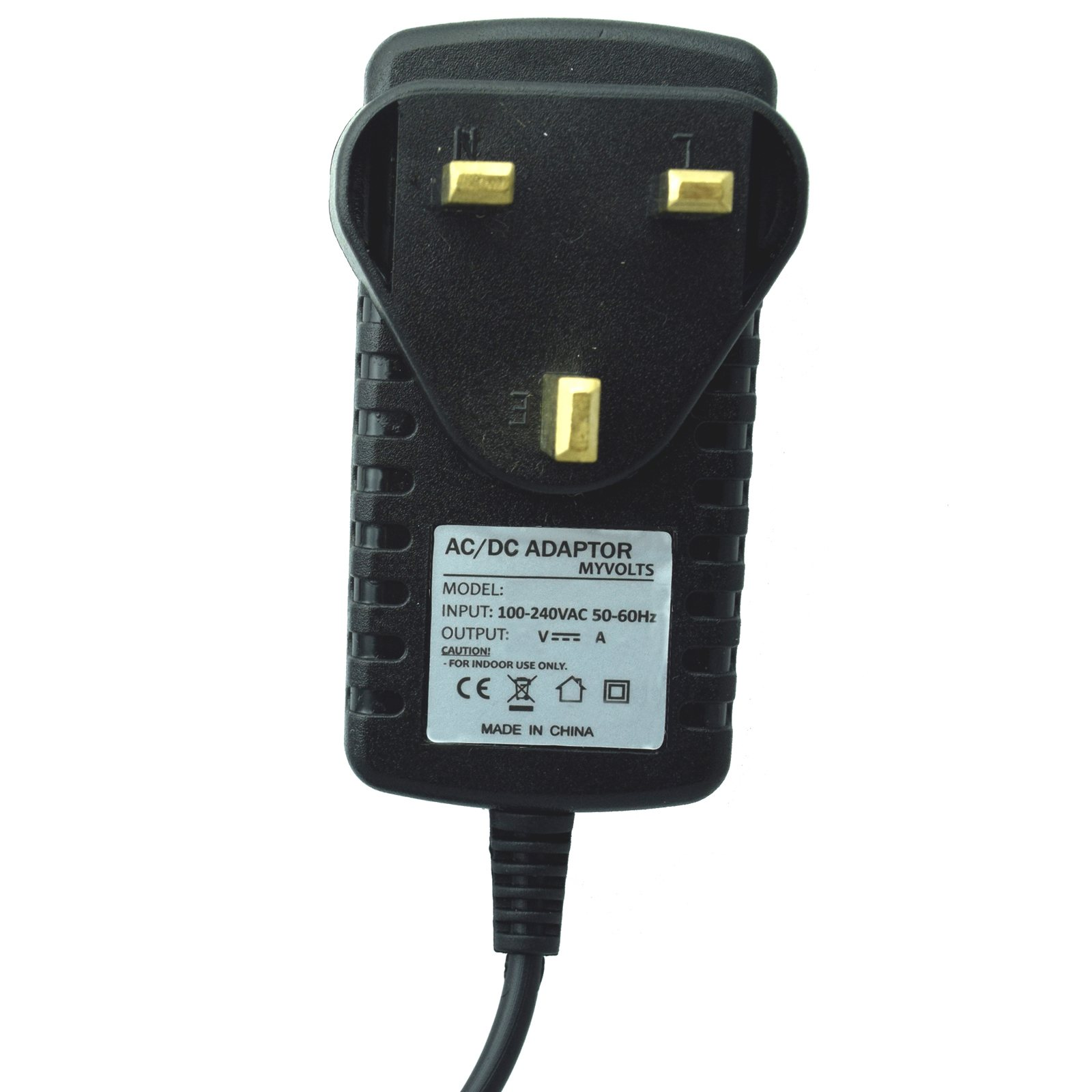 MyVolts 5V DC power cable compatible with Revitive CX Circulation Booster UK plug