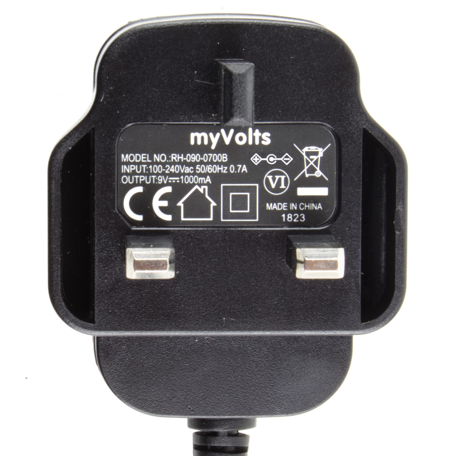 MyVolts 9V power supply adaptor compatible with Casio CT-395 Keyboard Premium UK plug