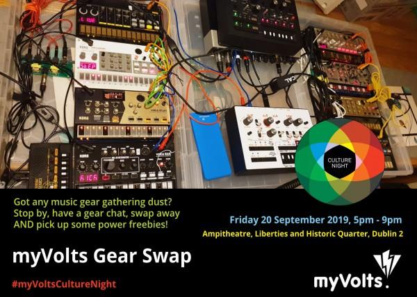 myVolts Gear Swap at Culture Night